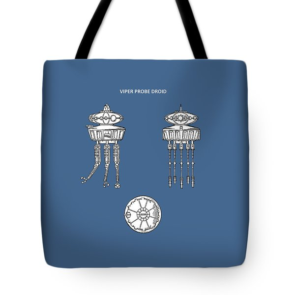 Star Wars - Droid Patent Tote Bag by Mark Rogan