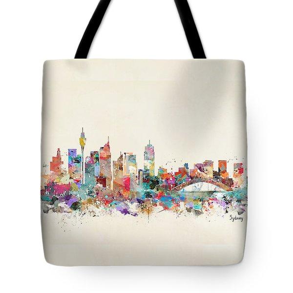 Sydney Skyline Australia Tote Bag by Bri B