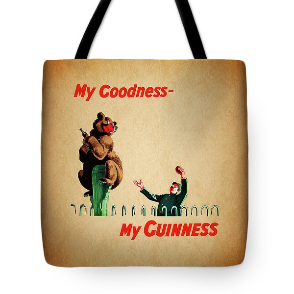 My Goodness My Guinness 2 Tote Bag by Mark Rogan