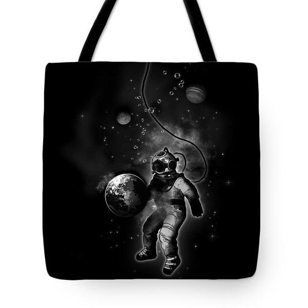 Deep Sea Space Diver Tote Bag by Nicklas Gustafsson