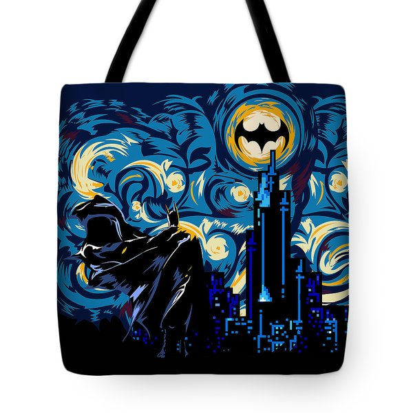 Starry Knight Tote Bag by Three Second