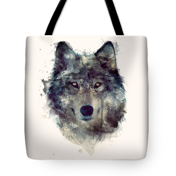 Wolf // Persevere Tote Bag by Amy Hamilton