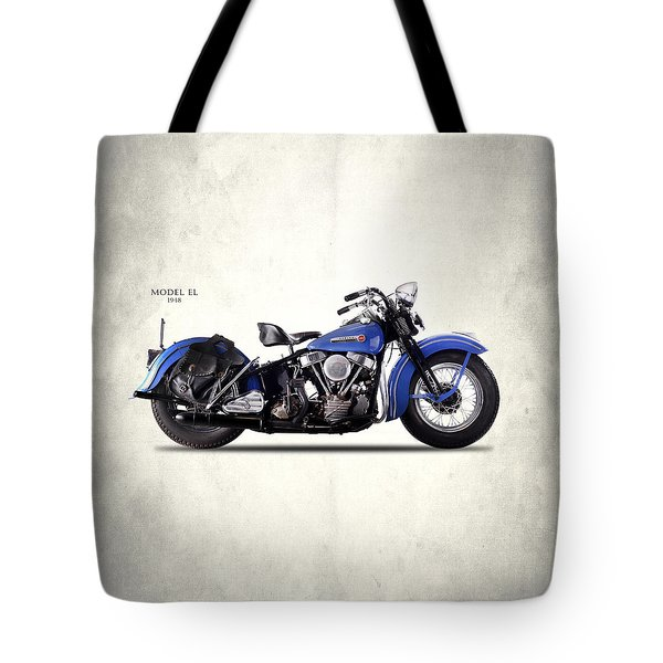 Harley-davidson El 1948 Tote Bag by Mark Rogan