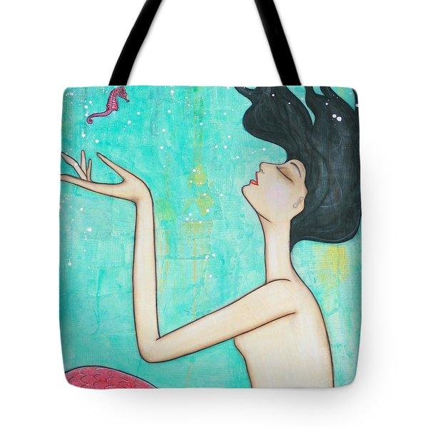Water Nymph Tote Bag by Natalie Briney