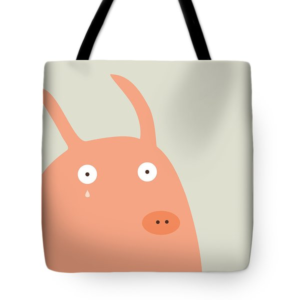 Pigs And Bunnies Tote Bag by Fuzzorama