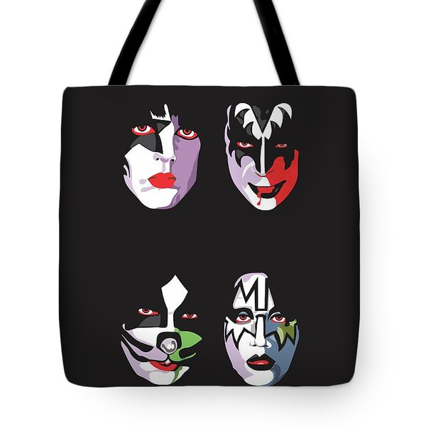Kiss Tote Bag by Troy Arthur Graphics