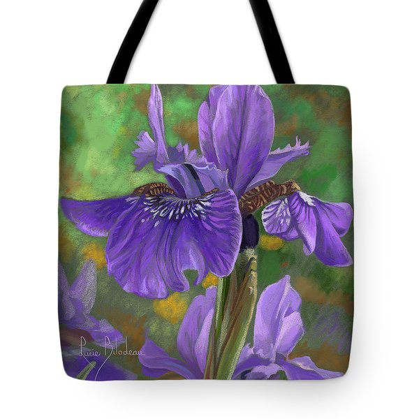 Irises Tote Bag by Lucie Bilodeau