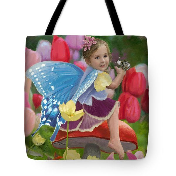 Spring Fairy Tote Bag by Lucie Bilodeau