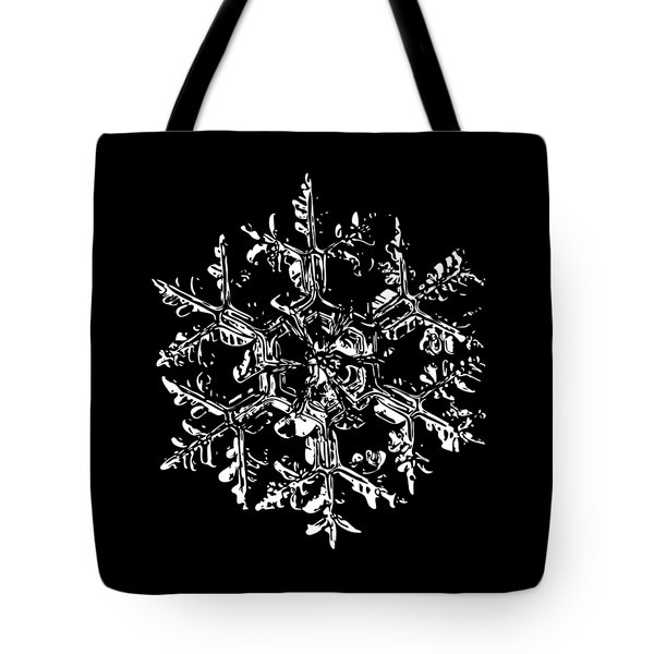 Snowflake Vector - Gardener's Dream Black Version Tote Bag by Alexey Kljatov