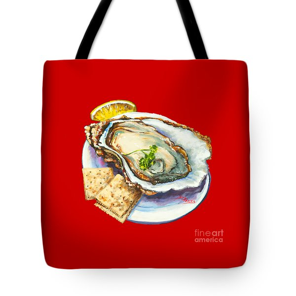 Oyster And Crystal Tote Bag by Dianne Parks