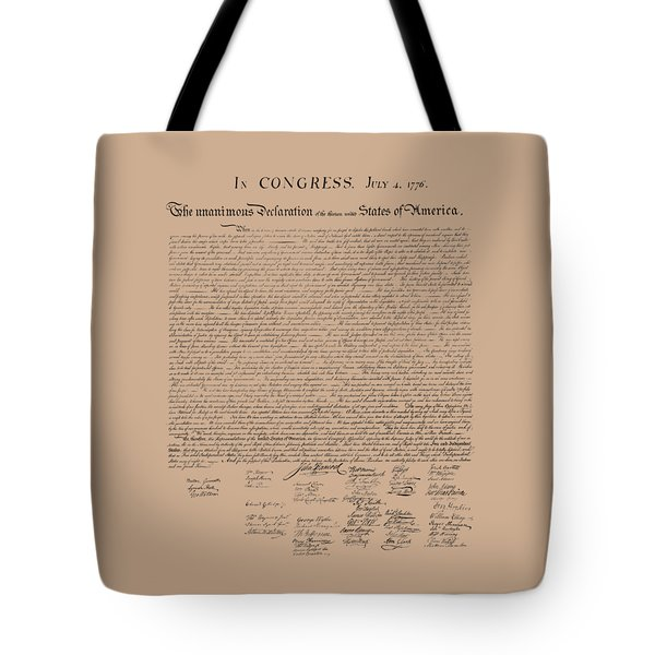 The Declaration Of Independence Tote Bag by War Is Hell Store