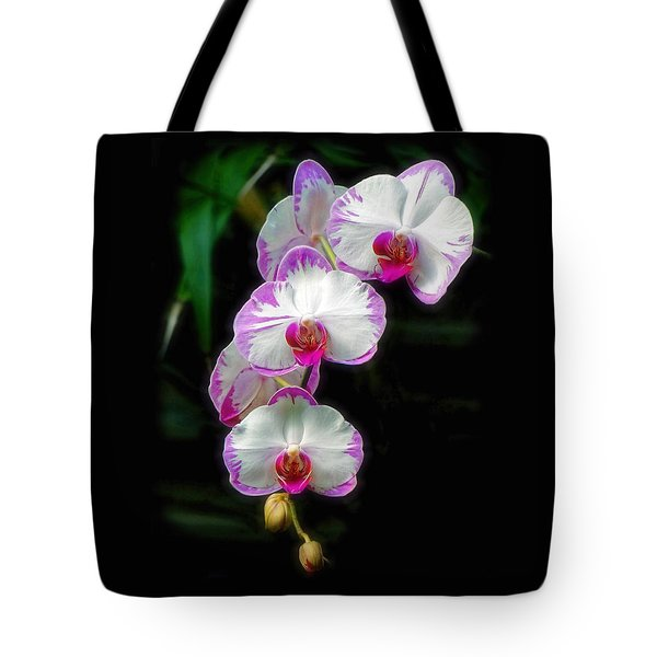 Cascading Orchid Beauties Tote Bag by Sue Melvin