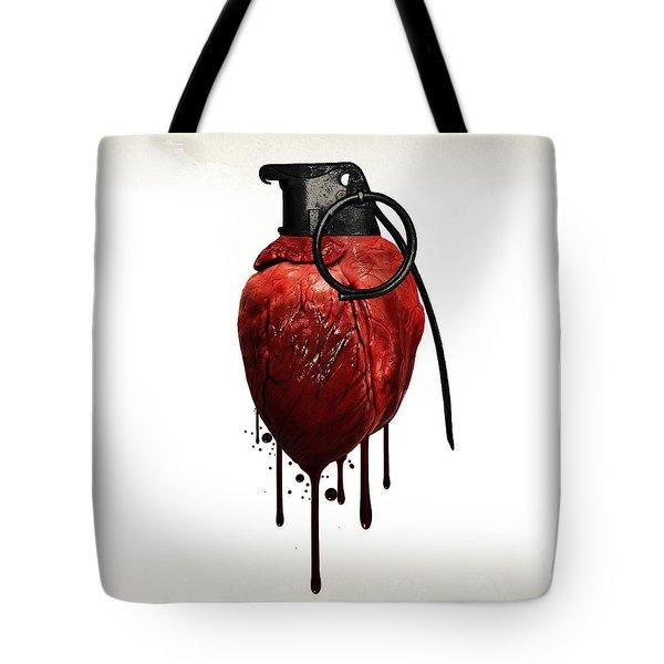 Heart Grenade Tote Bag by Nicklas Gustafsson