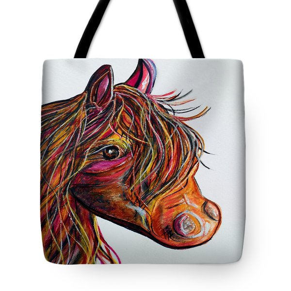 A Stick Horse Named Amber Tote Bag by Eloise Schneider