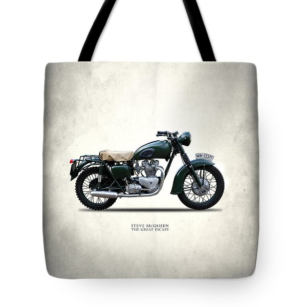 The Great Escape Motorcycle Tote Bag by Mark Rogan