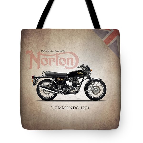 Norton Commando 1974 Tote Bag by Mark Rogan
