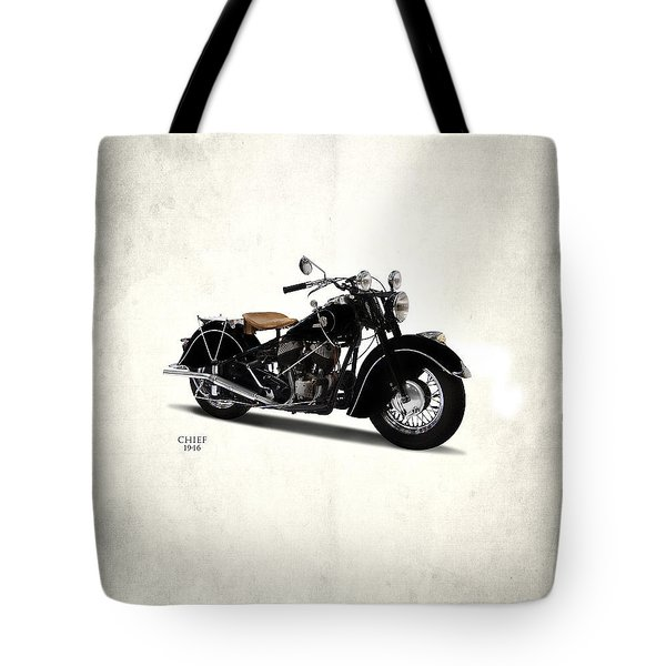 Indian Chief 1946 Tote Bag by Mark Rogan