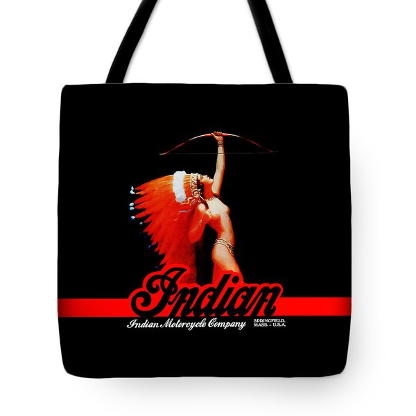 The Indian Motorcycle Company Tote Bag by Mark Rogan