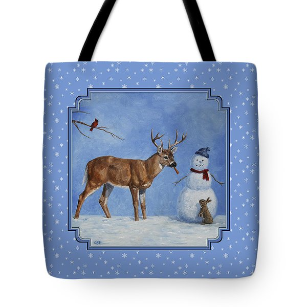Whose Carrot Seasons Greeting Tote Bag by Crista Forest