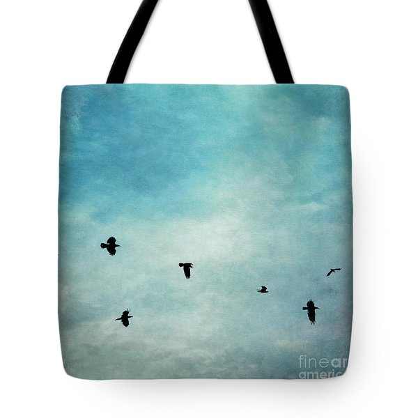 As The Ravens Fly Tote Bag by Priska Wettstein