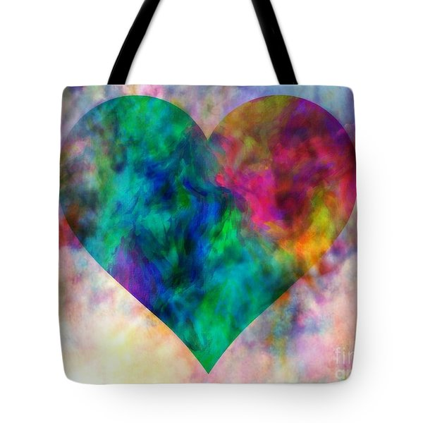 Ascendance Of Love Tote Bag by WBK