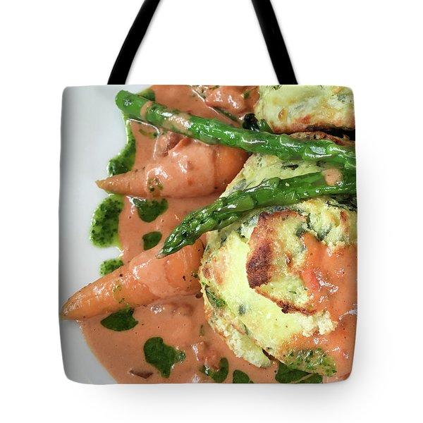 Asparagus Dish Tote Bag by Tom Gowanlock