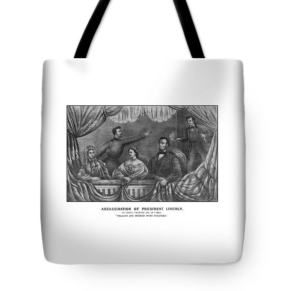 Assassination Of President Lincoln Tote Bag by War Is Hell Store