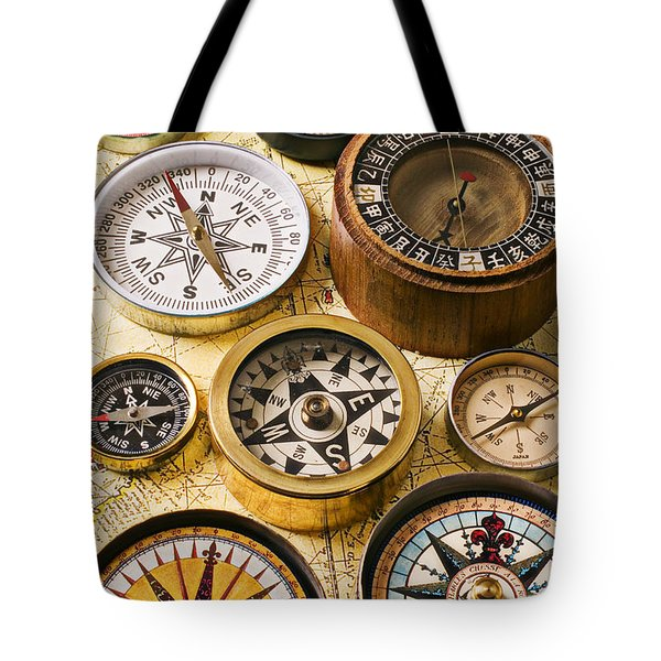 Assorted compasses Tote Bag by Garry Gay