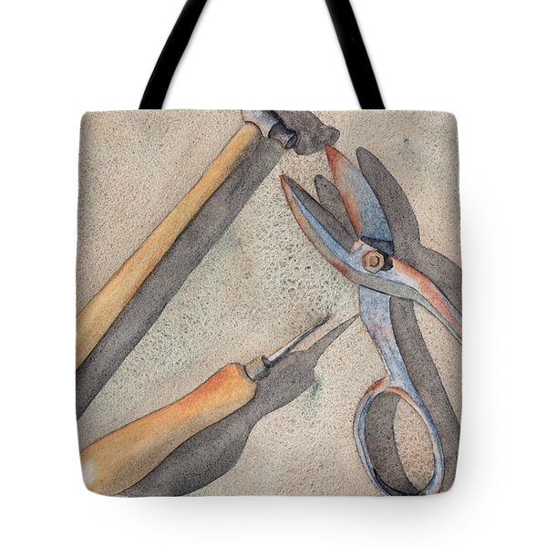 Assorted Tools Tote Bag by Ken Powers