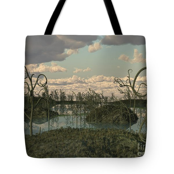 Asteroxylon Was A Primitive Plant That Tote Bag by Walter Myers