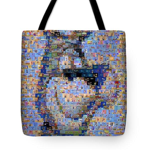 Astro Jetsons Mosaic Tote Bag by Paul Van Scott