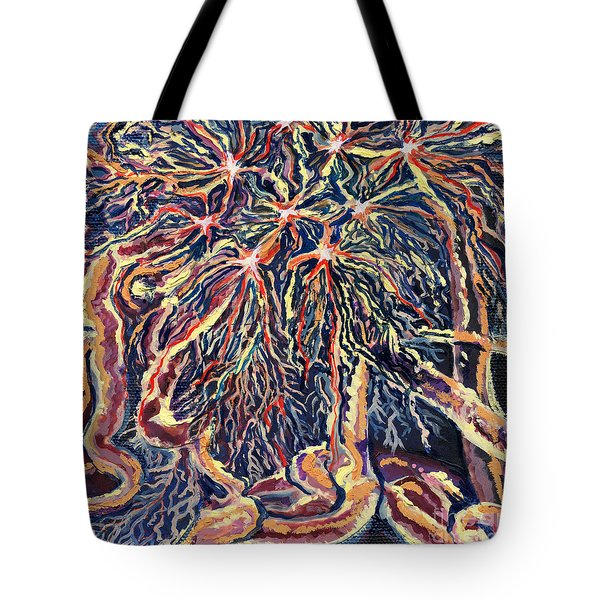 Astrocytes Microbiology Landscapes Series Tote Bag by Emily McLaughlin