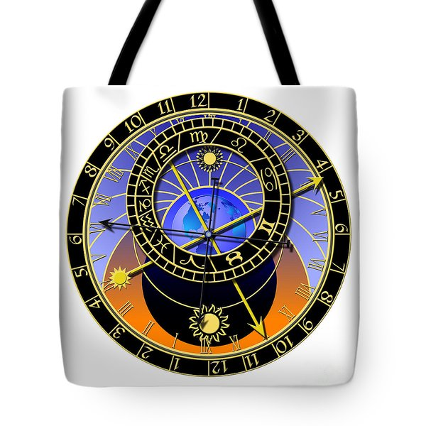 Astronomical Clock Tote Bag by Michal Boubin