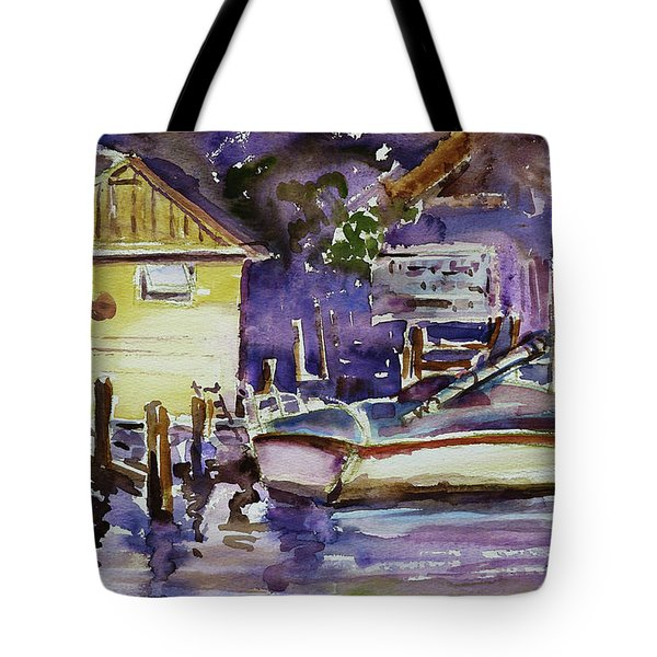 At Boat House 3 Tote Bag by Xueling Zou