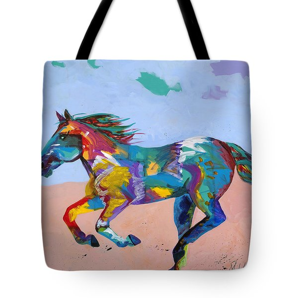 At Full Gallop Tote Bag by Tracy Miller