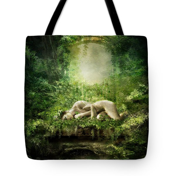 At Sleep Tote Bag by Mary Hood