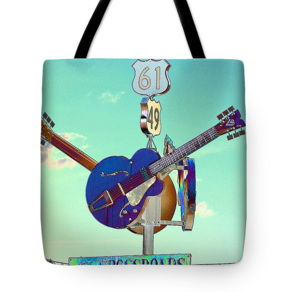 At The Crossroads Tote Bag by Karen Wagner