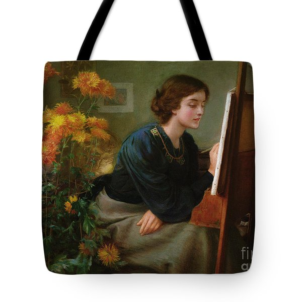 At The Easel  Tote Bag by James N Lee