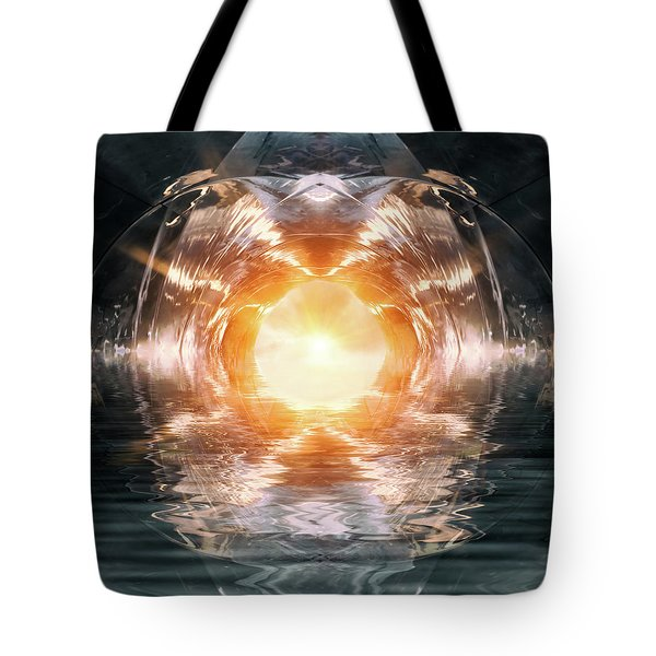 At The End Of The Tunnel Tote Bag by Wim Lanclus