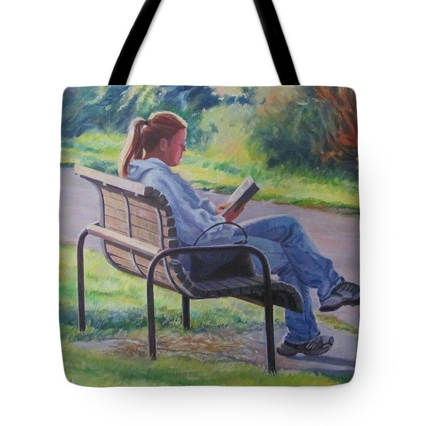 At The Park Tote Bag by German Zepeda