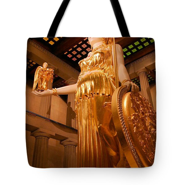 Athena with Nike Tote Bag by Kristin Elmquist