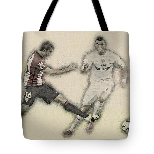 Athletic Club  Vs Real Madrid Tote Bag by Don Kuing