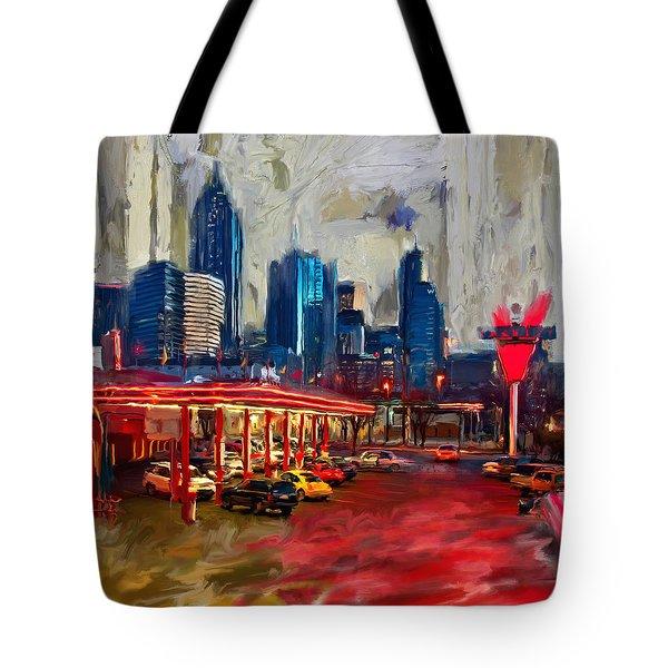 Atlanta Skyline 231 1 Tote Bag by Mawra Tahreem