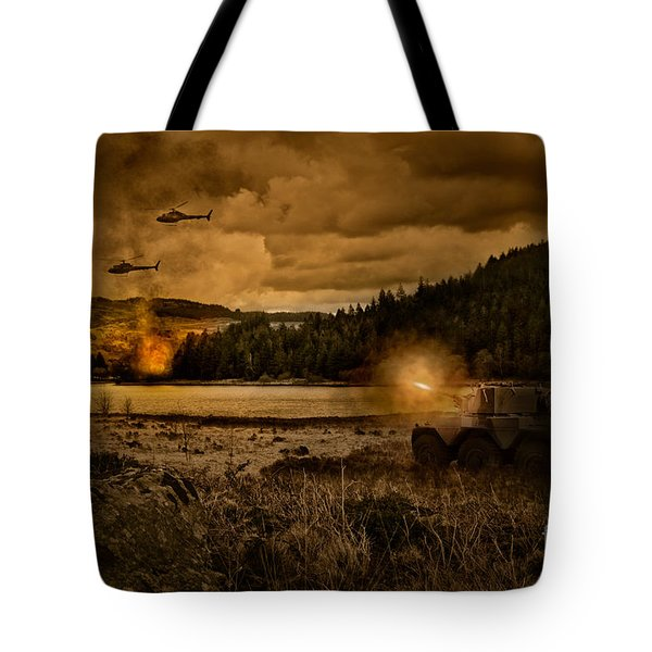 Attack At Nightfall Tote Bag by Amanda Elwell