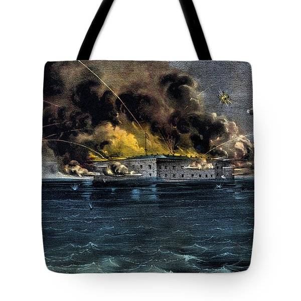 Attack On Fort Sumter Tote Bag by War Is Hell Store