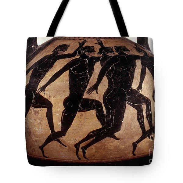 Attic Black-figured Vase Tote Bag by Granger