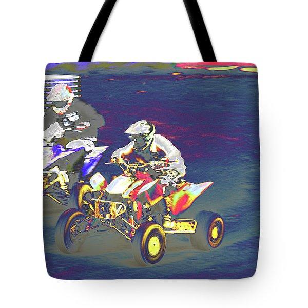 Atv Racing Tote Bag by Karol Livote