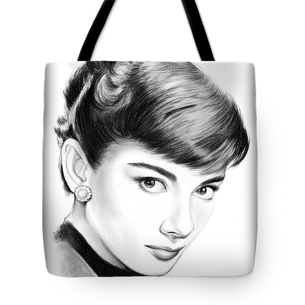 Audrey Hepburn Tote Bag by Greg Joens
