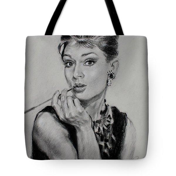 Audrey Hepburn Tote Bag by Ylli Haruni