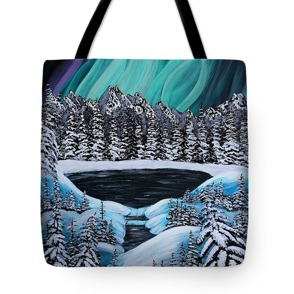 Aurora's Fiery Display Tote Bag by Barbara Griffin